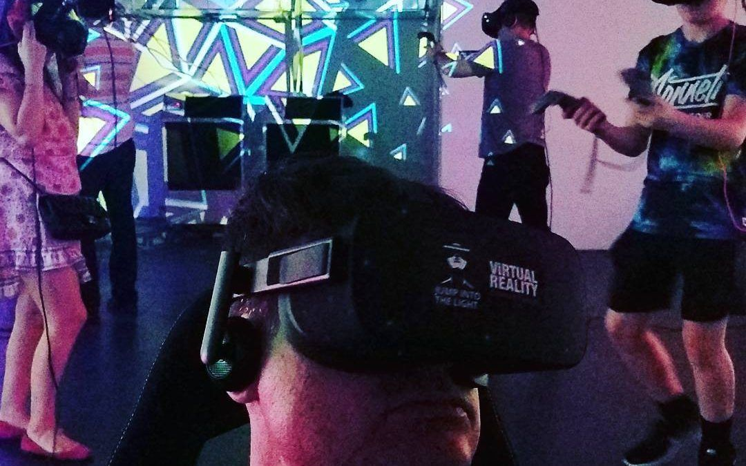 Put the headset on and explore #VR. Tonight at 180 Orchard in LES!!  #jumpintoth…